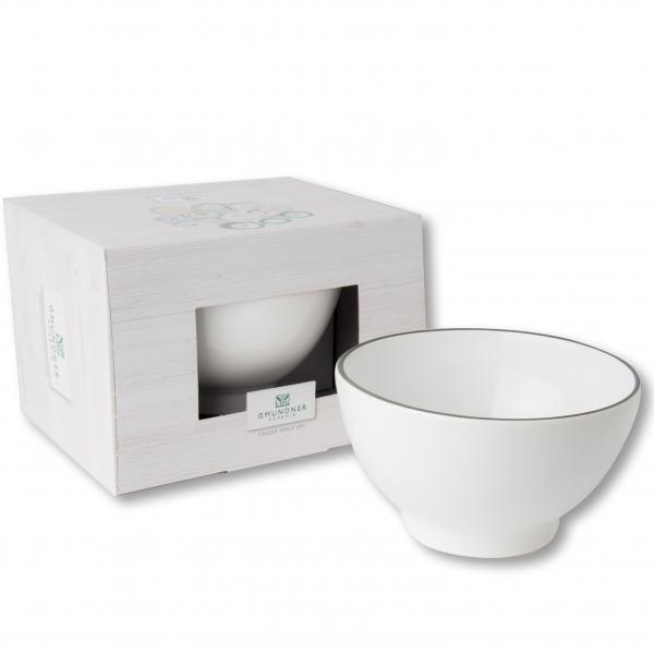 Gmundner Keramik Grauer Rand Müslischalen groß 0,4L