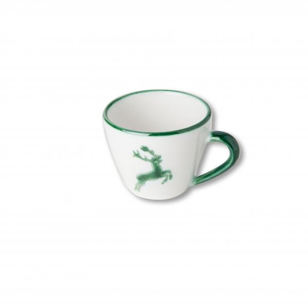 Gmundner Keramik Grüner Hirsch Cappuccino Tasse Gourmet 0,16L