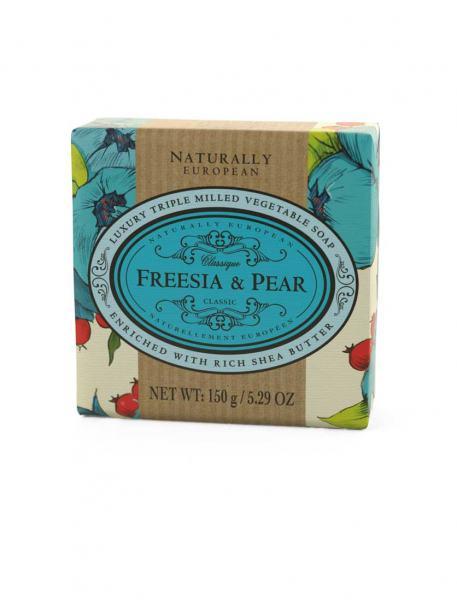 Naturally European Freesia Pear Soap 150g