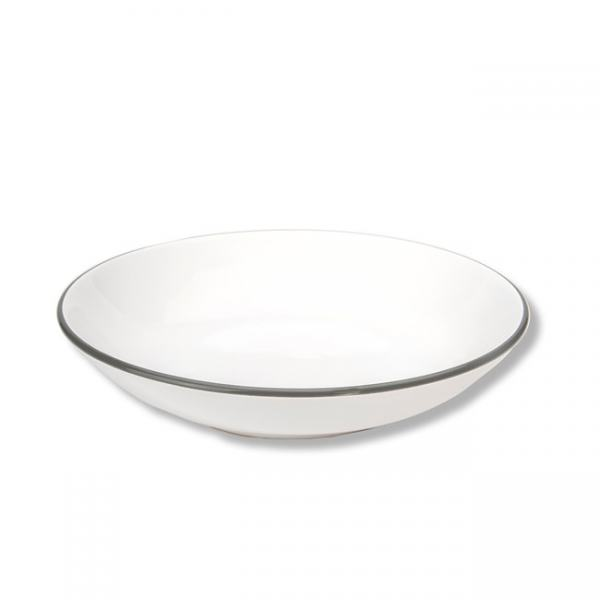 Gmundner Keramik Grauer Rand Suppenteller Cup 20cm