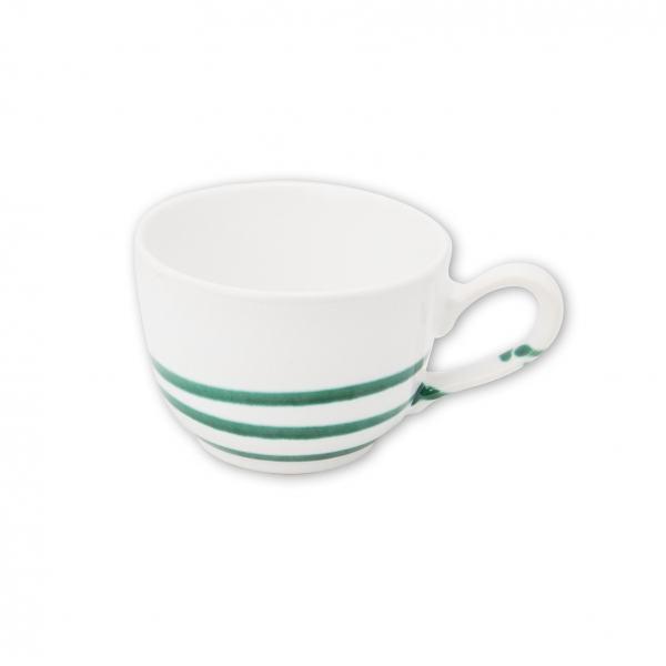 Gmundner Keramik Pur geflammt Grün Kaffeetasse glatt 0.19L