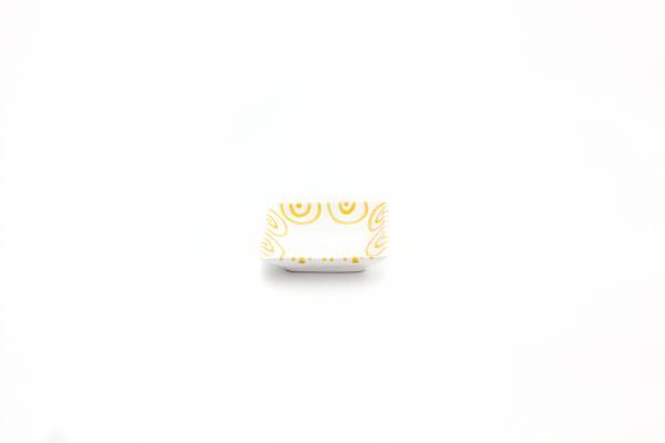 Gmundner Keramik Gelbgeflammt Snackschale 11x11cm