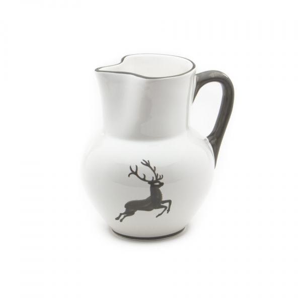 Gmundner Keramik Grauer Hirsch Krug Wiener Form 1L