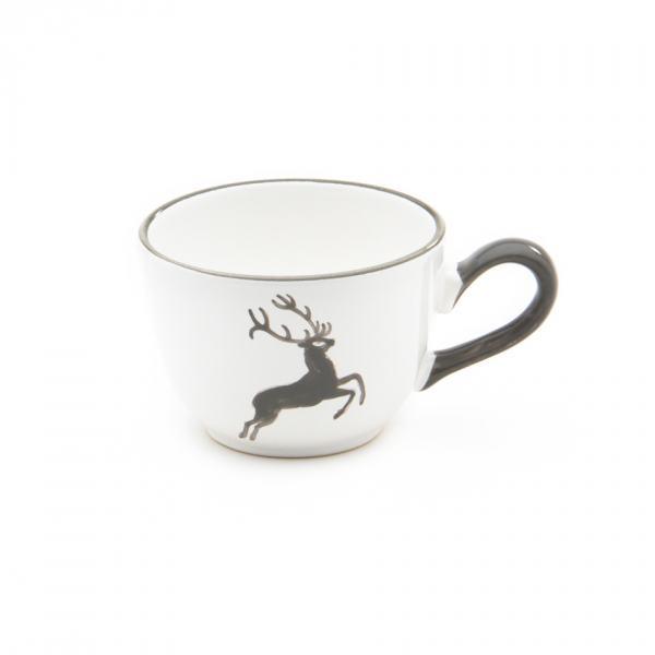 Gmundner Keramik Grauer Hirsch Kaffeetasse glatt (0.19L)