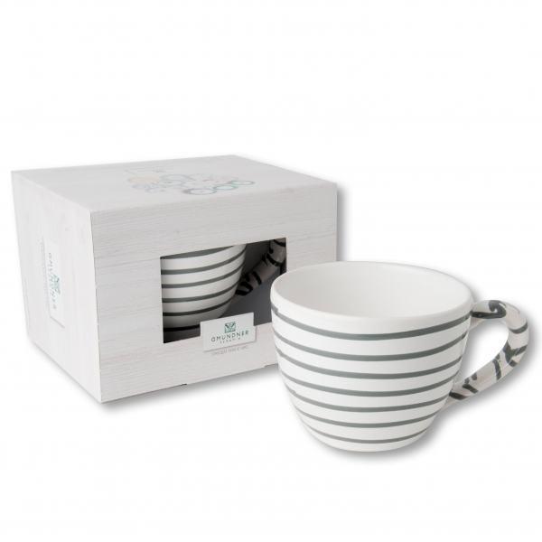 Gmundner Keramik Graugeflammt Teetasse Maxima