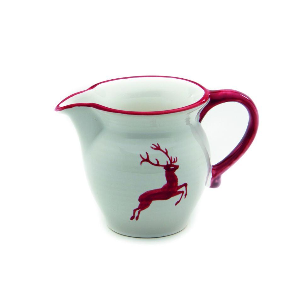 Gmundner Keramik Rubinroter Hirsch Milchgießer glatt 0.5L