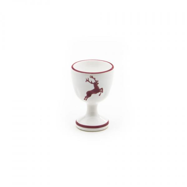 Gmundner Keramik Bordeauxroter Hirsch Eierbecher glatt H: 7.5cm
