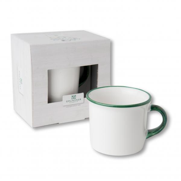 Gmundner Keramik Grüner Rand Kaffeehäferl (0.24 L)
