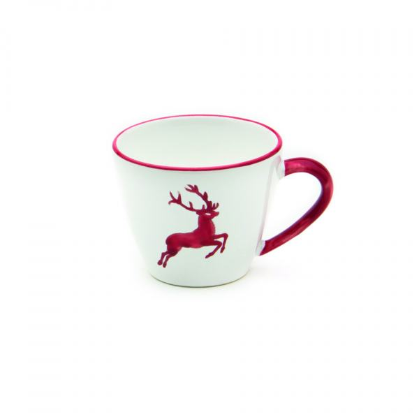 Gmundner Keramik Rubinroter Hirsch Kaffeetasse Gourmet (0.2L)