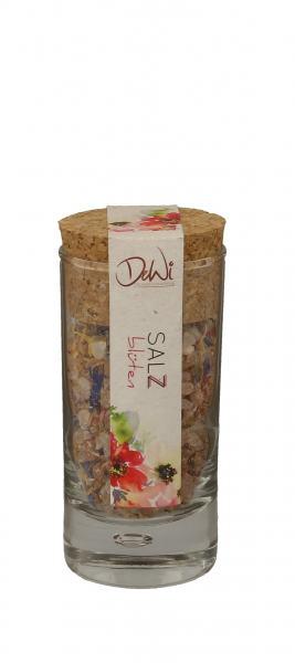 DeWi Blüten Salz im Korkenglas 65g