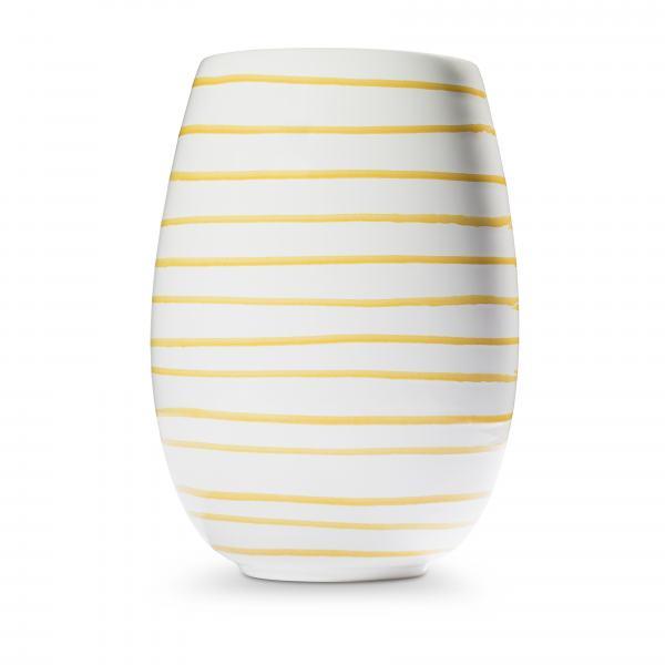 Gmundner Keramik Gelbgeflammt Vase H: 21cm