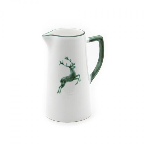 Gmundner Keramik Grüner Hirsch Wasserkrug 1.2L