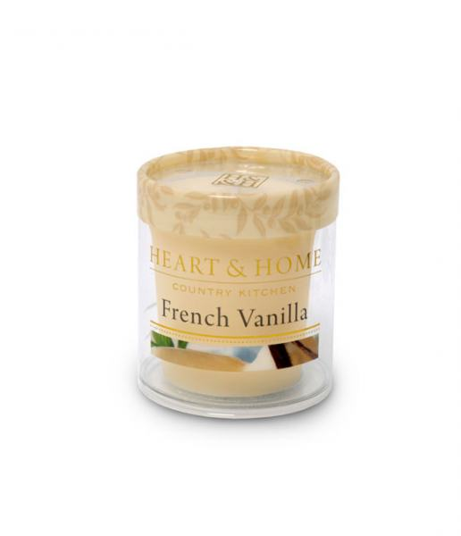 Heart & Home Duftkerze Votiv Französische Vanille 53gr