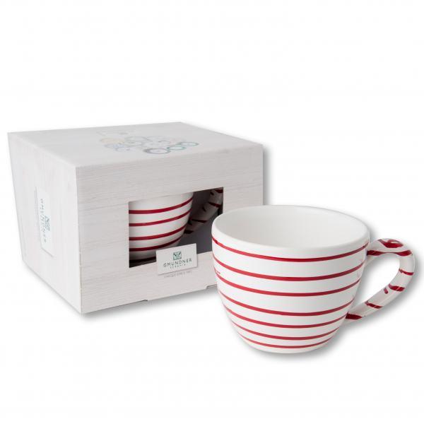 Gmundner Keramik Rotgeflammt Teetasse Maxima 0,4L
