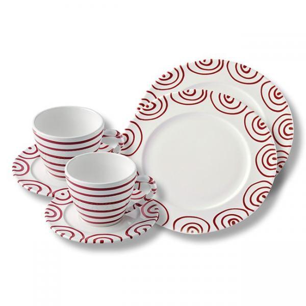 Gmundner Keramik Rotgeflammt Breakfast for two Gourmet