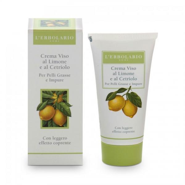 L'erbolario Creme mit Zitrone & Gurken für unreine und fette Haut