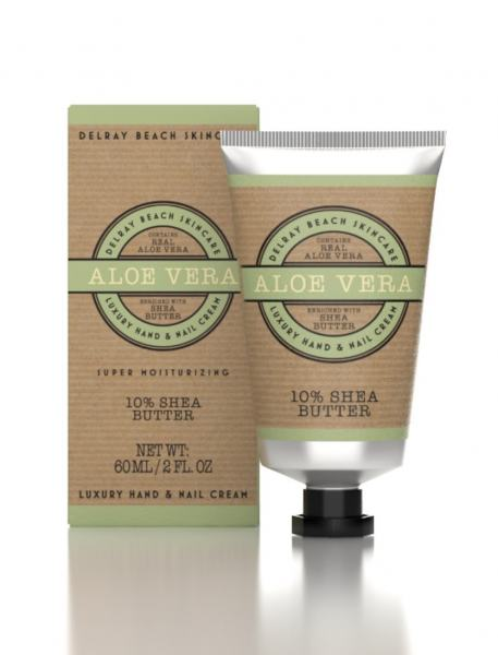 Delray Beach Hand Cream Aloe Vera 60ml Tube (Boxed)