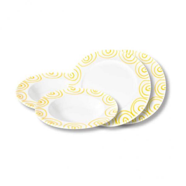 Gmundner Keramik Gelbgeflammt Dinner for two Gourmet