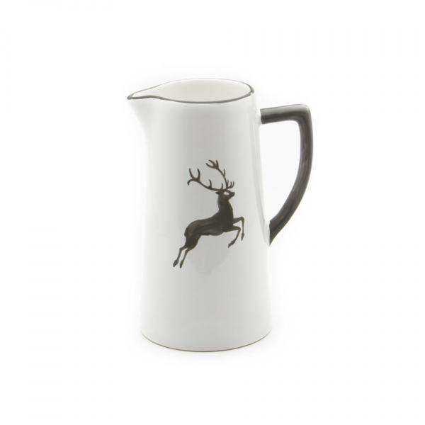 Gmundner Keramik Grauer Hirsch Wasserkrug 0.7L