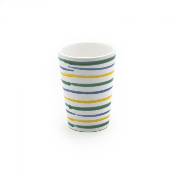 Gmundner Keramik Buntgeflammt Trinkbecher (H: 11cm)