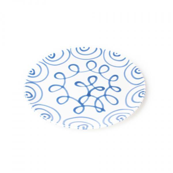 Gmundner Keramik Blaugeflammt Speiseteller Cup Ø 28cm