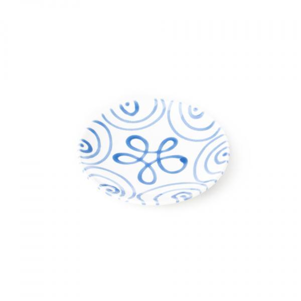 Gmundner Keramik Blaugeflammt Unterteller Mokka glatt (Ø 11 cm)