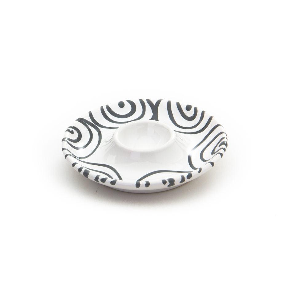Gmundner Keramik Graugeflammt Eierbecher glatt Ø 12 cm