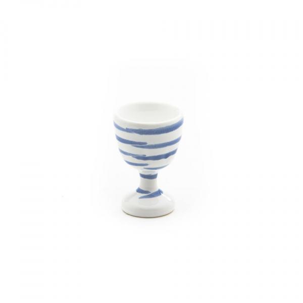 Gmundner Keramik Blaugeflammt Eierbecher glatt H: 7.5cm