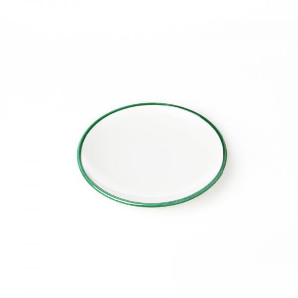 Gmundner Keramik Grüner Rand Unterteller Mokka glatt (Ø 11 cm)