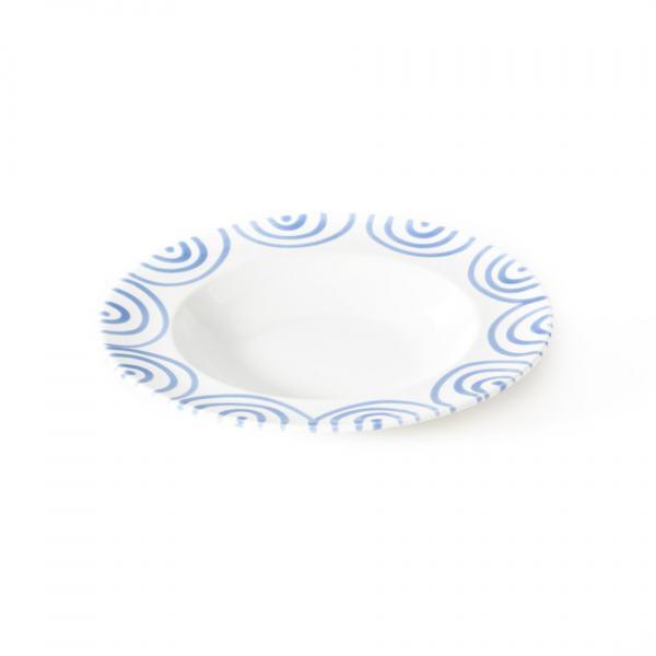 Gmundner Keramik Blaugeflammt Suppenteller Gourmet (Ø 24cm)