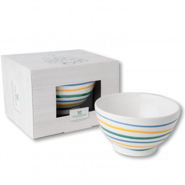 Gmundner Keramik Buntgeflammt Müslischale groß (0.4 L)