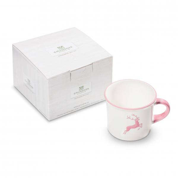 Gmundner Keramik Rosa Hirsch Kaffeehäferl 0,24 L im Karton