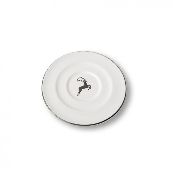 Gmundner Keramik Grauer Hirsch Unterteller Cappuccino Gourmet 14cm