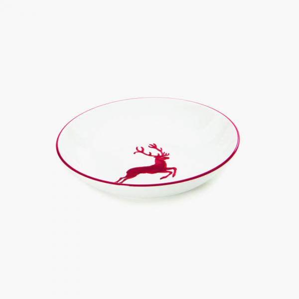 Gmundner Keramik Rubinroter Hirsch Suppenteller Cup (Ø 20cm)