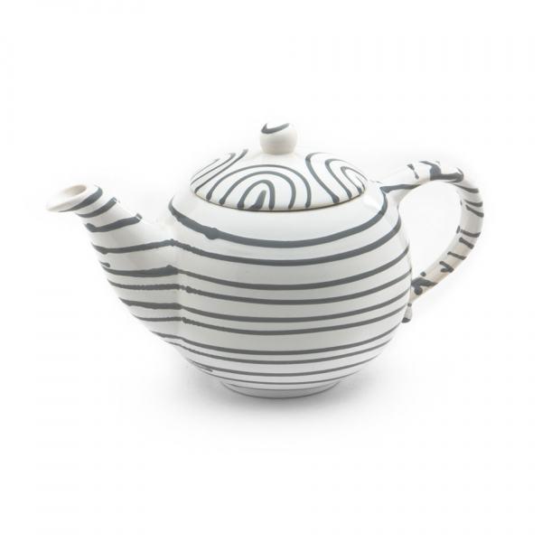 Gmundner Keramik Graugeflammt Teekanne glatt 1.5L