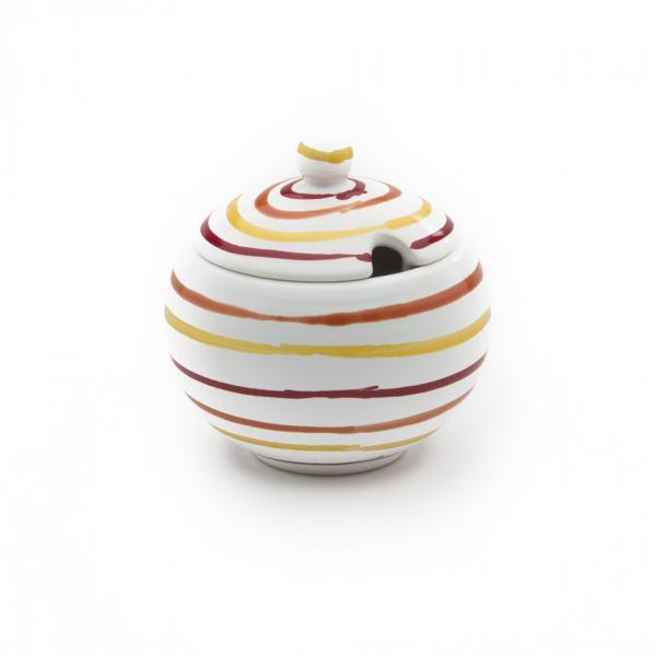 Gmundner Keramik Landlust Zuckerdose mit Ausschnitt Ø 10cm