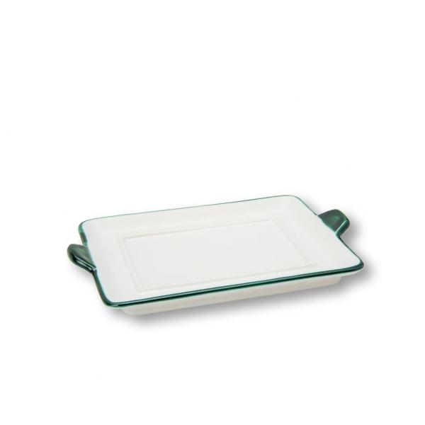 Grüner Rand Unterteil Dose/Butter glatt 150g