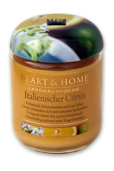Heart & Home Duftkerze groß Italienischer Citrus 310gr