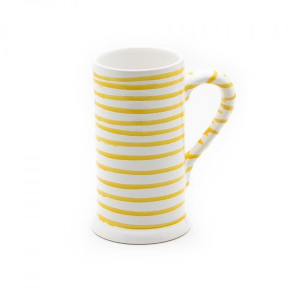Gmundner Keramik Gelbgeflammt Bierkrug Form-A (0.5L)
