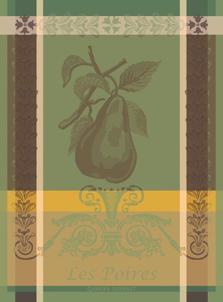 Garnier Thiebaut Geschirrtuch Les Poires Vert 56x77cm