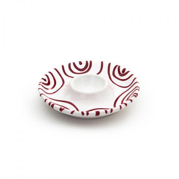 Gmundner Keramik Rotgeflammt Eierbecher glatt (Ø 12 cm)