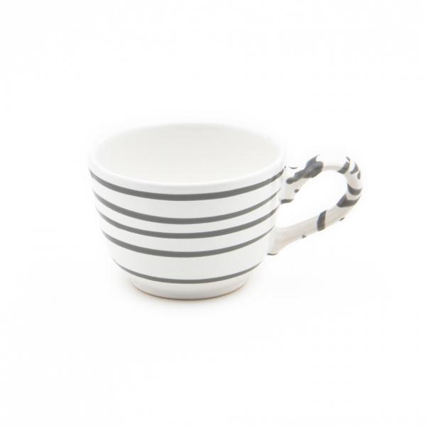 Gmundner Keramik Graugeflammt Kaffeetasse glatt 0.19L