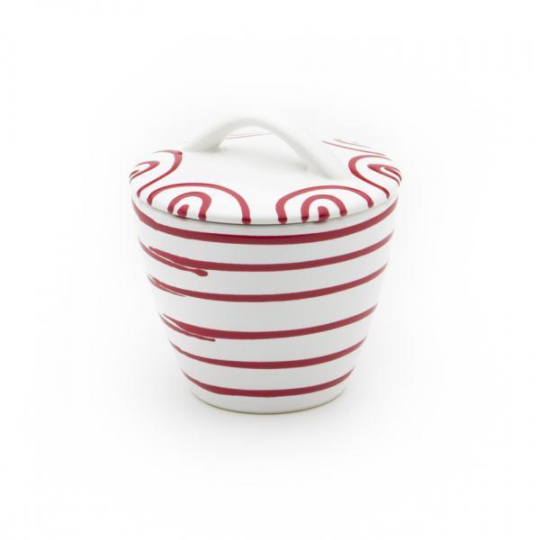 Gmundner Keramik Rotgeflammt Zuckerdose Gourmet 9cm