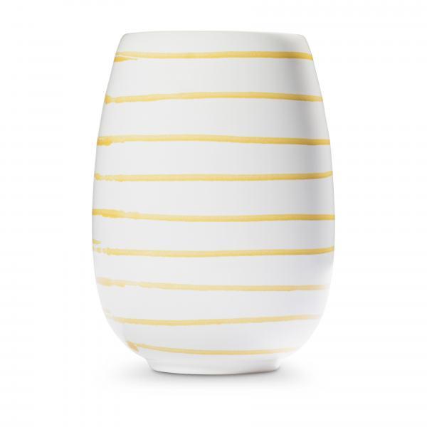 Gmundner Keramik Gelbgeflammt Vase H: 15cm