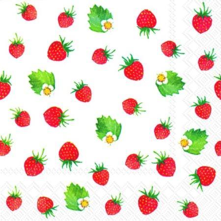 IHR Sweet Strawberries Cocktail Servietten