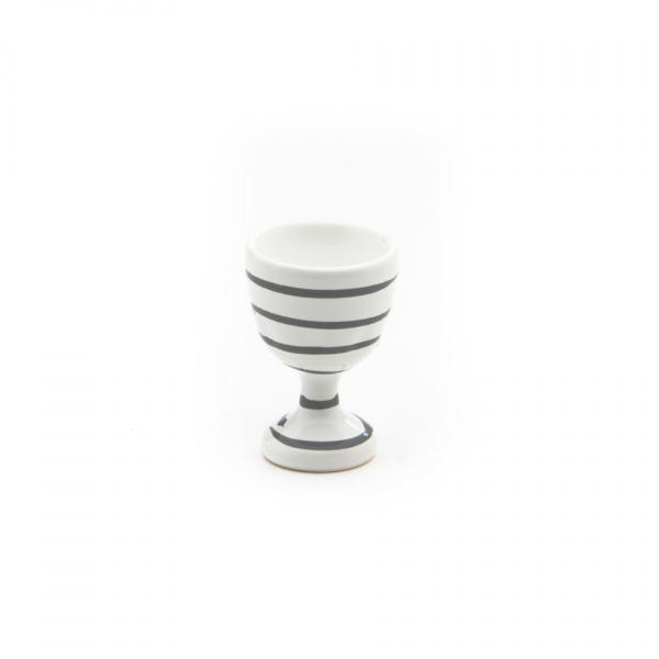 Gmundner Keramik Graugeflammt Eierbecher glatt 7.5cm