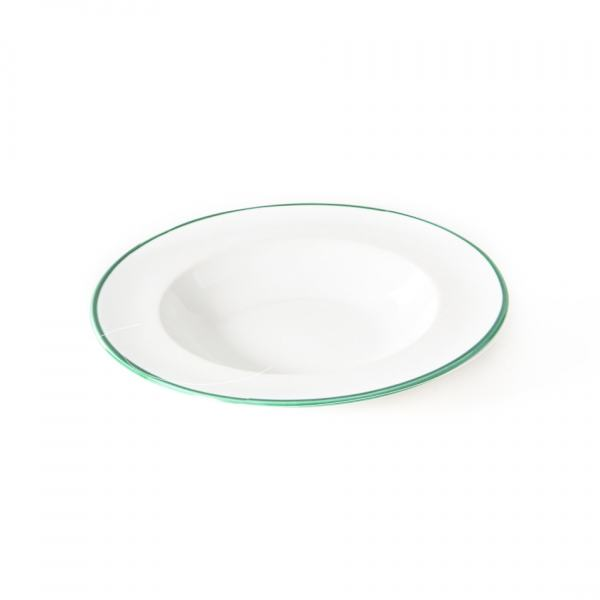Gmundner Keramik Grüner Rand Suppenteller Gourmet (Ø 24cm)
