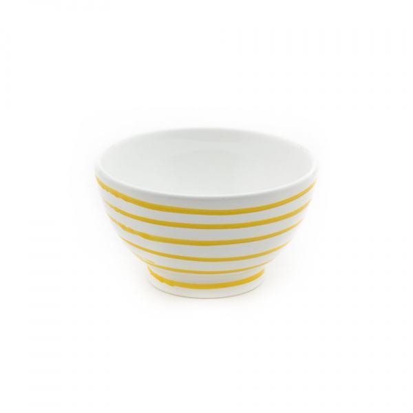 Gmundner Keramik Gelbgeflammt Müslischale groß (Ø 14cm)