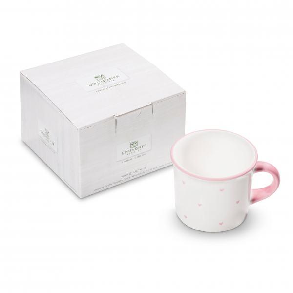 Gmundner Keramik Herzerl Rosa Kaffeehäferl 0,24Lim Karton
