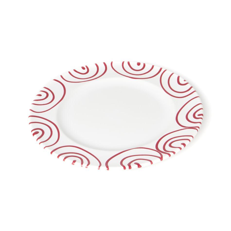 Gmundner Keramik Rotgeflammt Dessertteller Gourmet Ø18cm